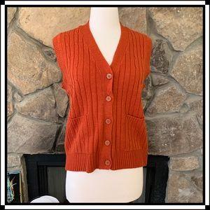 Vintage Orange Knit Vest